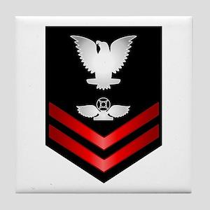 Navy PO2 Air Traffic Control Tile Coaster