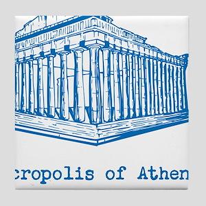 Acropolis of Athens Tile Coaster