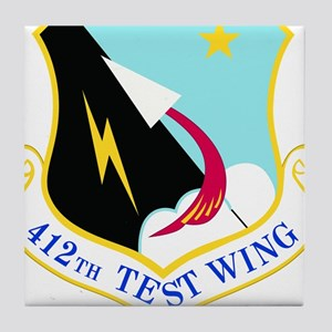 USAF Air Force 412th Test Wing Shield Tile Coaster