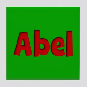 Abel Green and Red Tile Coaster