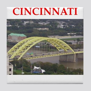 cincinnati Tile Coaster