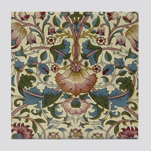 William Morris Floral Design Tile Coaster