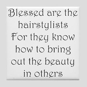 Hairstylist Tile Coaster