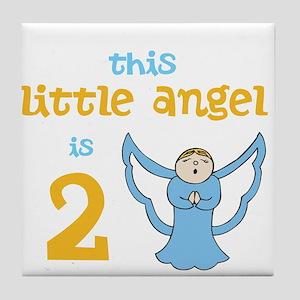 little angel custom age Tile Coaster