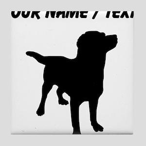 Custom Labrador Retriever Tile Coaster