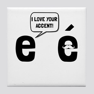 Love Accent Tile Coaster