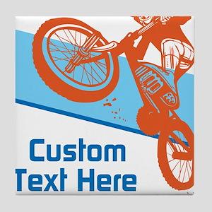 Custom Motocross Bike Design Tile Coaster