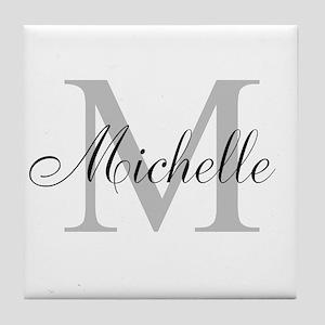 Personalized Monogram Name Tile Coaster