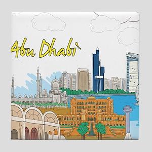 Abu Dhabi in the United Arab Emirates Tile Coaster