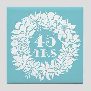 45th Anniversary Wreath Tile Coaster