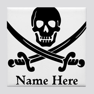 Custom Pirate Design Tile Coaster