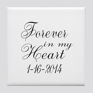 Forever in my Heart Tile Coaster