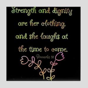 Proverbs 31 Woman Tile Coaster