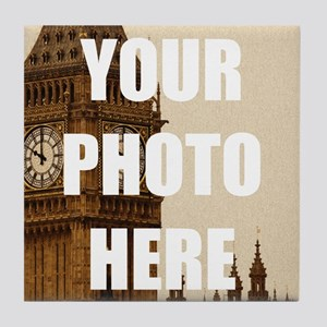 Your Photo Here Personalize It! Tile Coaster