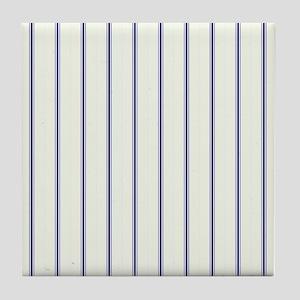 Classic Viennese Stripes Tile Coaster