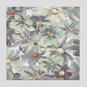 Painted Flowers Tile Coaster