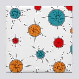 Atomic Era Planets Tile Coaster
