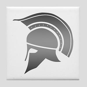 Ancient Greek Spartan Helmet Tile Coaster