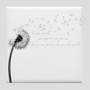 Dandelion Inspiration Tile Coaster