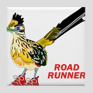 Road Runner in Sneakers Tile Coaster
