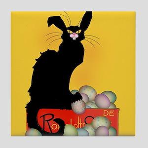 Happy Easter - Le Chat Noir Tile Coaster