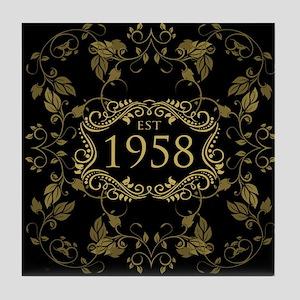 1958 Birth Year Tile Coaster