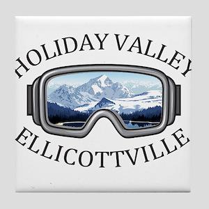 Holiday Valley - Ellicottville - Ne Tile Coaster