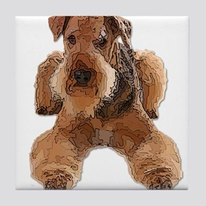 Heavily Deconstructed Vector Airedale Tile Coaster