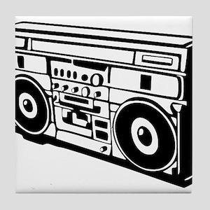 Ghettoblaster - DJ - Musi Tile Coaster