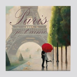 Je T'aime Paris Tile Coaster