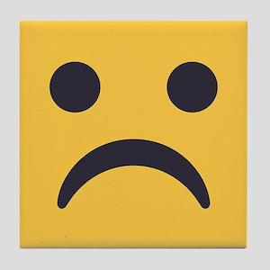 Frowning Emoji Face Tile Coaster