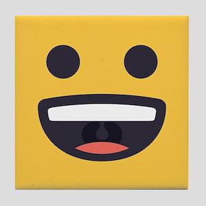 Happy Emoji Face Tile Coaster