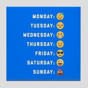Emoji Days of the Week Tile Coaster
