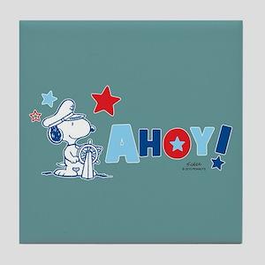 Snoopy AHOY Full Bleed Tile Coaster