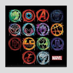 Marvel All Splatter Icons Tile Coaster