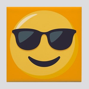 Sunglasses Emoji Tile Coaster