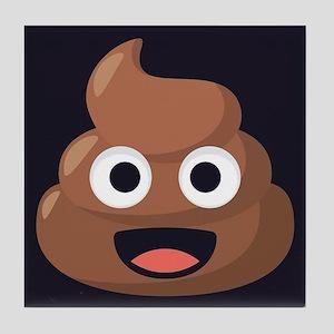 Poop Emoji Tile Coaster