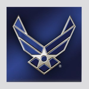 U.S. Air Force Logo Detailed Tile Coaster