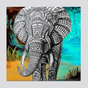 African Elephant Tile Coaster