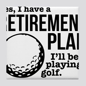 Golf Retirement Plan Tile Coaster