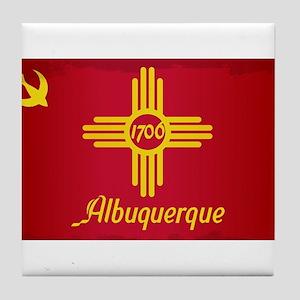 Albuquerque City Flag Tile Coaster