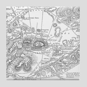 Ancient Athens Map Tile Coaster