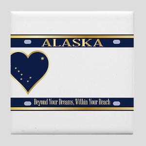 Alaska State License Plate Tile Coaster