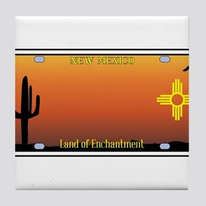 New Mexico License Plate Tile Coaster
