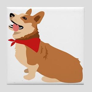 Corgi Dog Tile Coaster