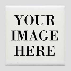 Your Photo Here Design Tile Coaster