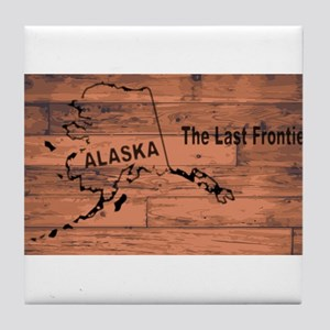 Alaska Map Brand Tile Coaster