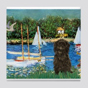 Sailboats & Affenpinscher Tile Coaster