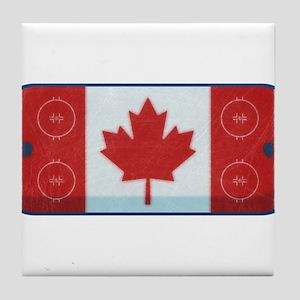 Hockey Rink Flag Tile Coaster