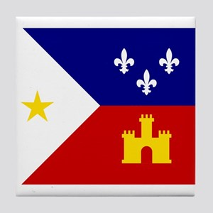 Flag of Acadiana Louisiana Tile Coaster